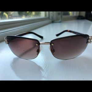 BCBGMAXAZRIA Sunglasses Brown/Gold with Crystals